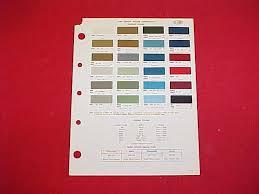 Chevrolet Paint Colors Chart On Popscreen
