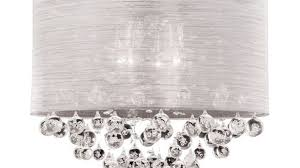 White fabric shade crystal modern drum String Drum Shade Chandelier With Crystals Contemporary White Fabric Crystal Modern Interesting Living In Animaleyedrcom Drum Shade Chandelier With Crystals Incredible Shop Silver Mist