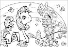 Детские раскраски для девочек пони