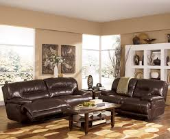 Two Loveseats In Living Room Exhilaration Chocolate Reclining Living Room Group By Signature