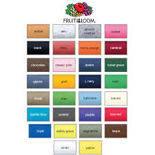 Fruit Of The Loom Color Chart 2017 Fruit Of The Loom Colorful Shirts Black Brick Heather Black