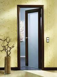 Interior frosted glass door Double Wood Interior Door With Frosted Glass Insert Pinterest Interior Glass Doors 11 Bright And Modern Interior Design Ideas