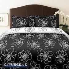 city scene luna king size 3 piece duvet cover set