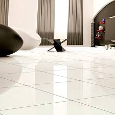 white floor tiles. Alpine White Porcelain Tiles Floor