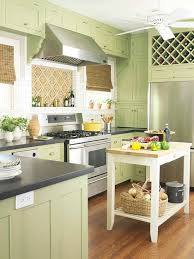 green kitchen cabinets better homes