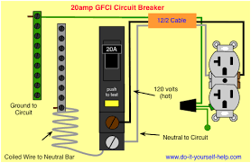120 volt 4 outlets wire diagram circuit breaker wiring diagrams do it yourself help com wiring diagram gfci circuit breaker