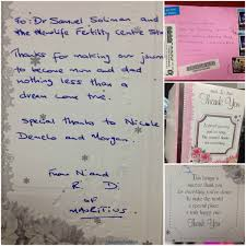 Thank You Letters From Our Patients Newlife Fertility Centre