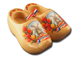 blank wooden shoes