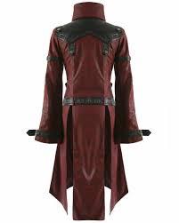 détails sur veste punk rave shadow pour femme noir rouge goth steampunk manteau en cuir synthétique afficher le titre d origine