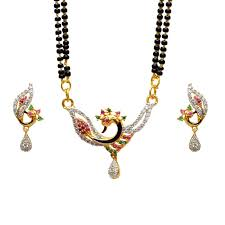 pourni attractive american diamond peacock tanmaniya mangalsutra set best s in india rediff ping