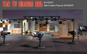Tv studio furniture Tv Station Tv Sitcom Set Pinterest Tv Sitcom Set 3d Models Pzrite