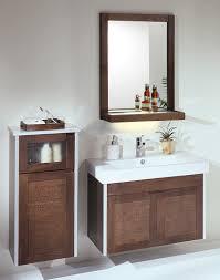 Oak Bathroom Storage Cabinet Bathroom Vanity Traditional Mirror Storage Oak Bathroom Vanity