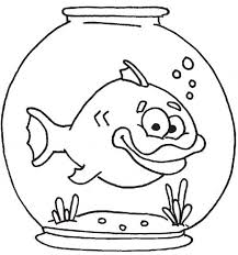 Small Picture Coloring Pages Of Fish Bowl Coloring Pages