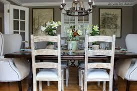 decorating your dining room. Ladderback Side Chairs And Upholstered Wingback End Decorating Your Dining Room S