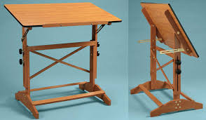 wood drafting table oak with drawers wooden drawing centre for room antique wooden drawing table