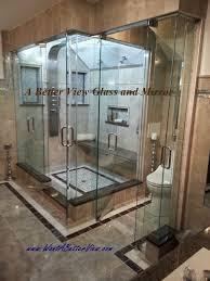 custom glass shower enclosure installed in virginia