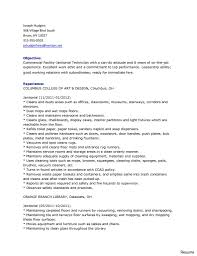 Resume For A Cleaning Job Charming Resume for Janitorial Work On Best Cleaning Professionals 78