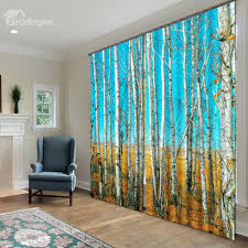 Pretty Curtains Living Room Fantastic Pretty Trees Polyester 2 Piece 3d Curtains On Sale Buy