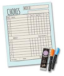 Jennakate Blue Magnetic Single Child Behavior Reward Chore Chart Daily Household  Chore Checklist Job
