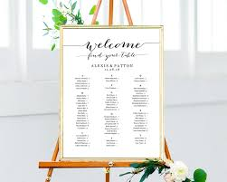 Wedding Seating Chart Alphabetical Wedding Seating Chart