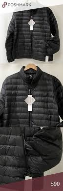 32 Degree Ultra Light Jacket 32 Degrees Black Packable Down Jacket Mens Large Brand New