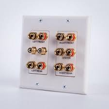 home theater wall plate. vanco 45-0060 5.2 home theater connection wall plate