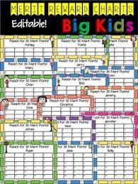 Behavior Management Big Kids Reward Charts Editable Back To School