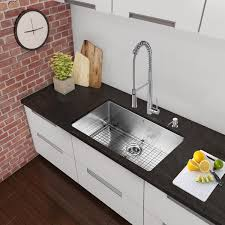 vigo 30 inch undermount stainless steel kitchen sink with rounded