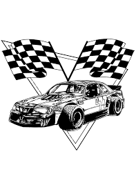 Small Picture Race Car Checkered Flags Coloring Page H M Coloring Pages