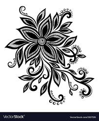 Design Black And White Art Black White Flower Lace Eyelets Design Element