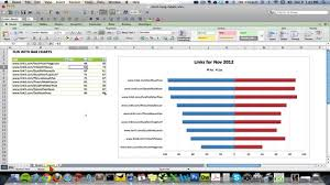 How To Make A Bar Chart On Microsoft Excel Creating A Double Sided Bar Chart In Excel