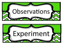 science fair headings printable green chevron science fair headings by fifth grade movin up tpt