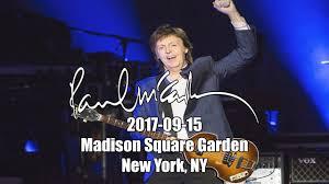paul mccartney 2017 09 15 madison square garden