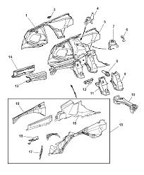 Chrysler crossfire engine diagram best of front fender shields for 2008 chrysler crossfire