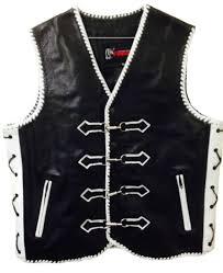 motorcycle leather vest designer custom motorbike biker rider waistcoat braided for