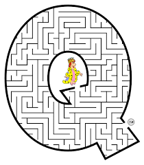 Small Picture Capital Letter Q Coloring Pages Maze Coloring Pages