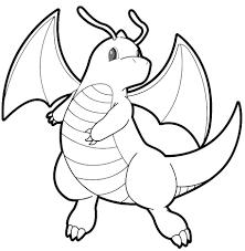 Disegno Di Pokemon Dragonite Da Colorare Per Bambini Con Disegni Da