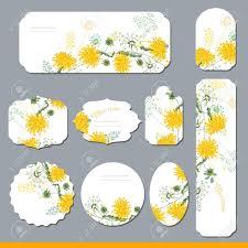 かわいい黄色のタンポポの花春のテンプレートお知らせ夏ロマンチック