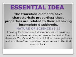 TOPIC 13 THE PERIODIC TABLE –THE TRANSITION METALS - ppt video ...