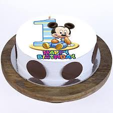 Mickey Mouse 1st Bday Vanilla Cake 2kg Gift Best Mickey Mouse
