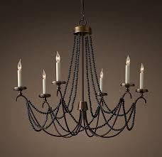black wooden beads beaded chandelier19