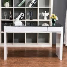 high gloss office furniture. Maestro Computer Desk - White High Gloss W/ Black Glass Top Office Furniture