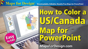 Editable Map Of Usa For Powerpoint Free Canada Map Powerpoint Template Canada Map Clip Art Free Free