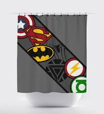 gallery for dc comics shower curtain