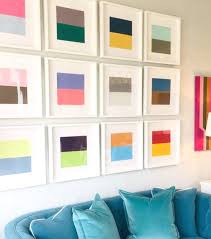 available janet gregg color block paintings