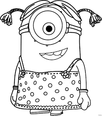 Minion Outline Drawing 11 And Despicable Me Girl Coloring Pages