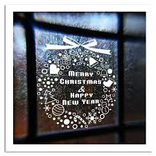 New Year Window Glass PVC Wall Sticker Christmas Gift <b>Snowflake</b> ...