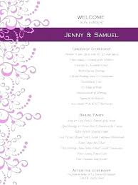 Free Printable Wedding Ceremony Programs Free Wedding Ceremony Program Template Christian Wedding Program