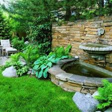 outdoor wall fountain with pond outdoor wall fountain in landscaping and outdoor building