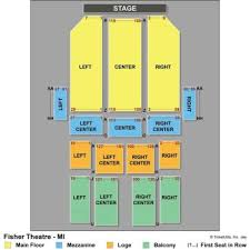 Fisher Theater Detroit Seating Chart Performing Arts Best Examples Of Charts